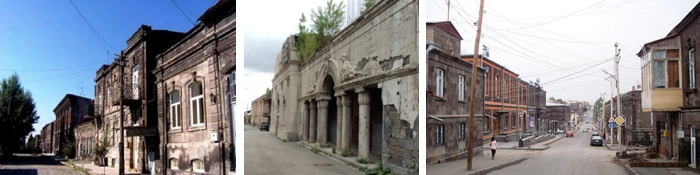 gyumri old town buildings
